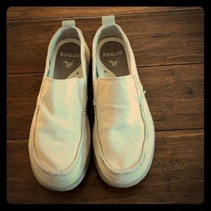 Men's CROCS canvas loafers